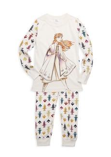 Hanna Andersson Disney's Frozen 2 Little Girl's & Girl's Anna Cotton Pajama Set