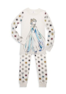 Hanna Andersson Disney's Frozen 2 Little Girl's & Girl's Elsa Cotton Pajama Set