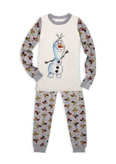 Hanna Andersson Disney's Frozen 2 Little Kid's & Kid's Olaf Cotton Pajama Set