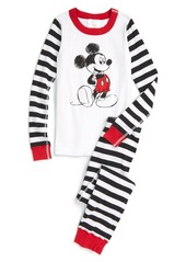 Hanna Andersson Disney Mickey Mouse Stripe Organic Cotton Fitted Two-Piece Pajamas (Toddler Boys, Little Boys & Big Boys)