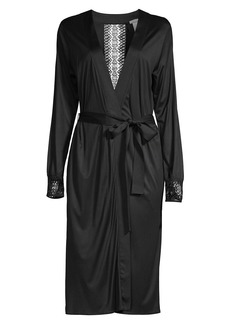 Hanro Amanda Lace Trim Robe