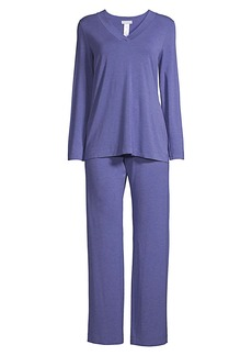 Hanro Champagne Long-Sleeve Pajama Set