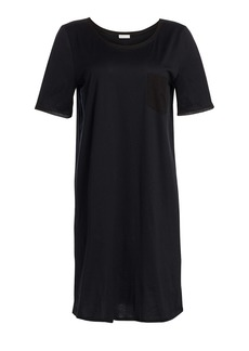 Hanro Cotton Deluxe Short-Sleeve Gown