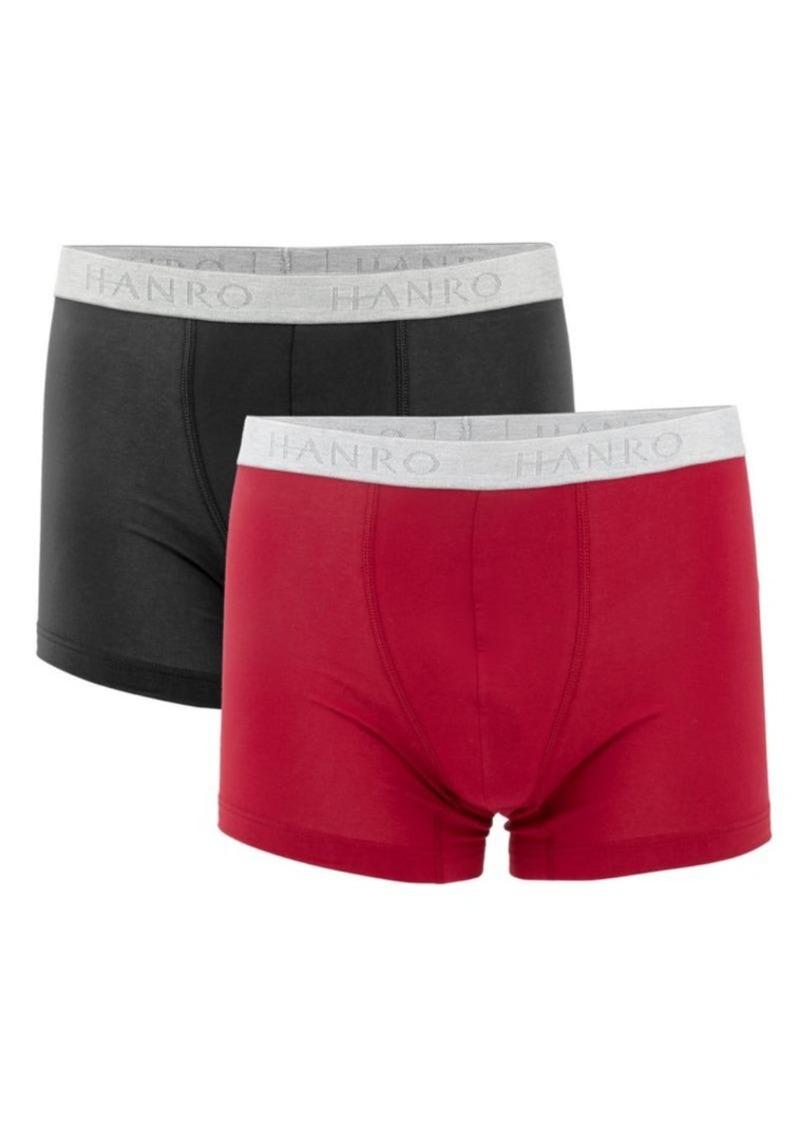 Hanro Cotton Essentials 2-Pack Boxer Briefs