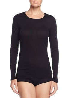 Hanro Cotton Seamless Long-Sleeve Top