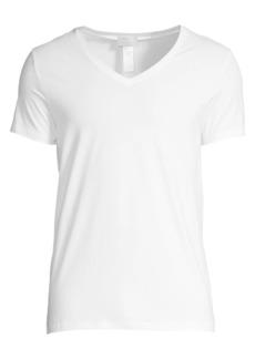 Hanro Cotton Superior Short Sleeve V-Neck Tee
