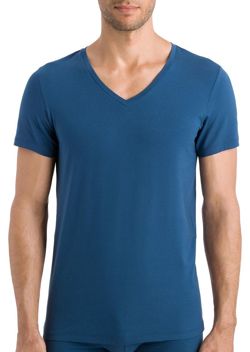 Hanro Cotton Superior V-Neck T-Shirt