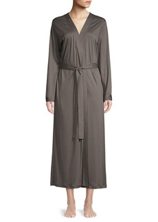Hanro Ella Long Cotton Robe