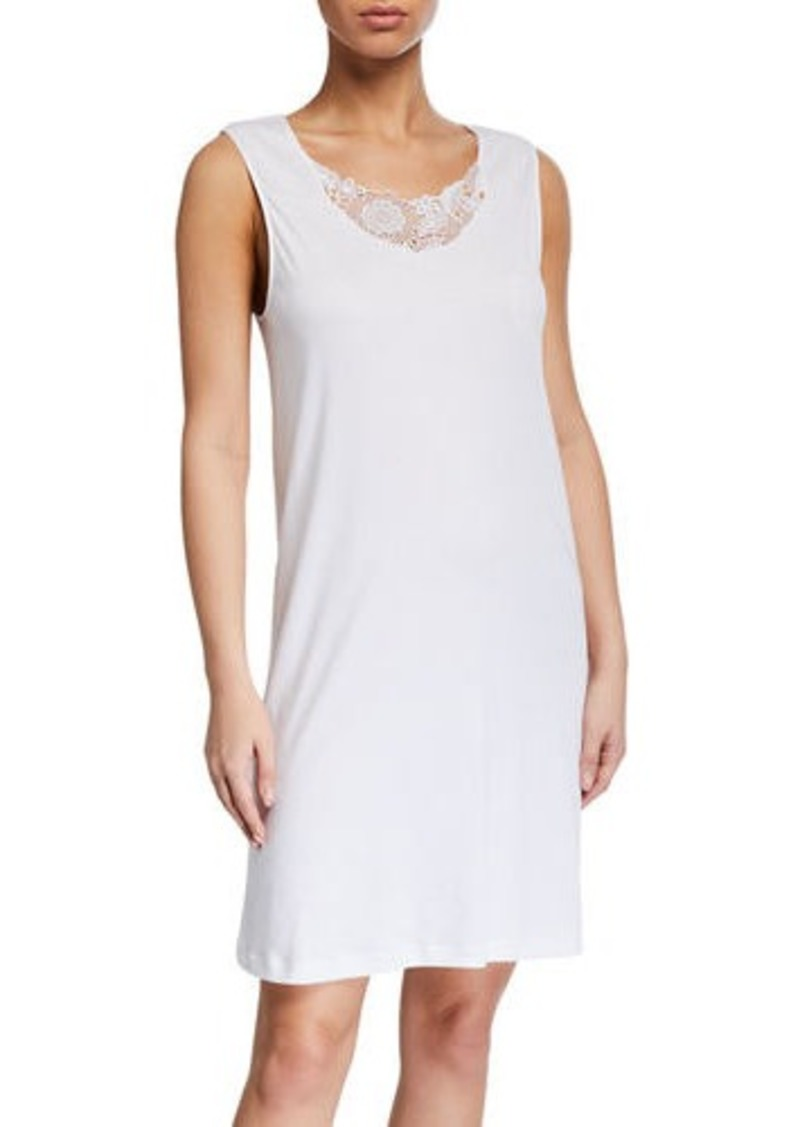Hanro Flora Lace-Inset Tank Nightgown