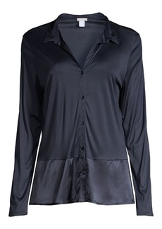 Hanro Grand Central Silk-Blend Sleep Shirt