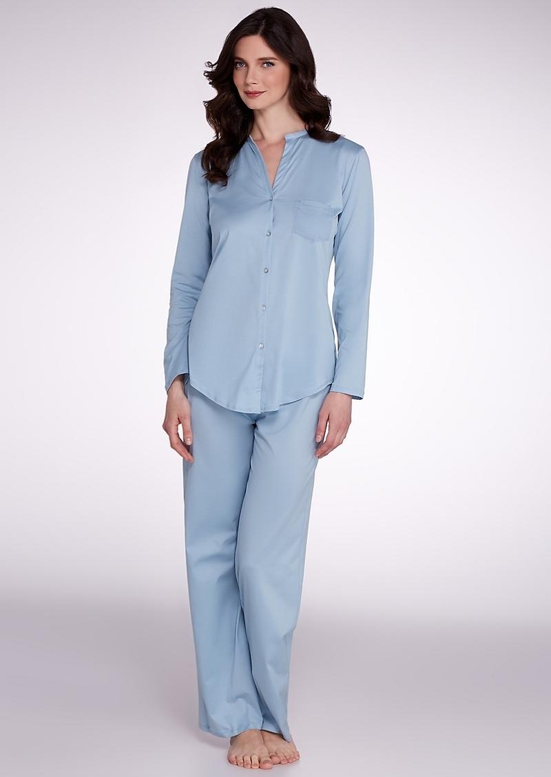 Hanro + Cotton Deluxe Knit Pajama Set