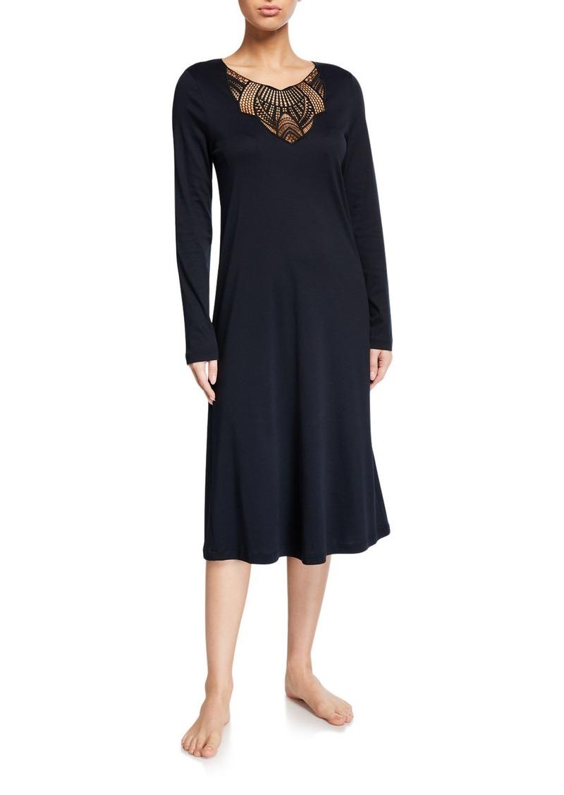 Hanro Adina Long Sleeve Short Nightgown