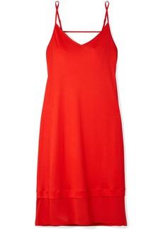 Hanro Ayana chiffon-paneled modal and silk-blend chemise