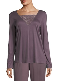 Hanro Camille Long-Sleeve Lounge Shirt
