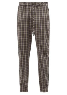 Hanro Checked cotton-poplin pyjama trousers
