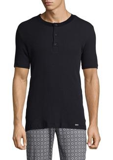 Hanro Basil Short Sleeve Henley Shirt