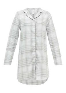 Hanro Edda checked cotton nightdress
