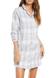 Hanro Edda Long Sleeve Flannel Nightshirt
