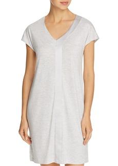 Hanro Elara Single Silk Stripe Cap Sleeve Gown