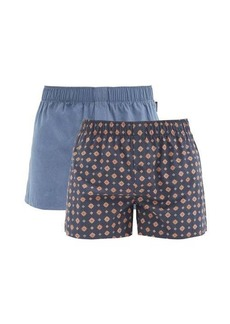 Hanro Fancy pack of two mismatch cotton boxer briefs