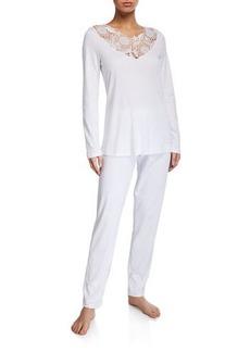 Hanro Flora Long Pajama Set