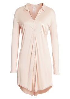 Hanro 'Grand Central' Modal & Silk Sleep Shirt