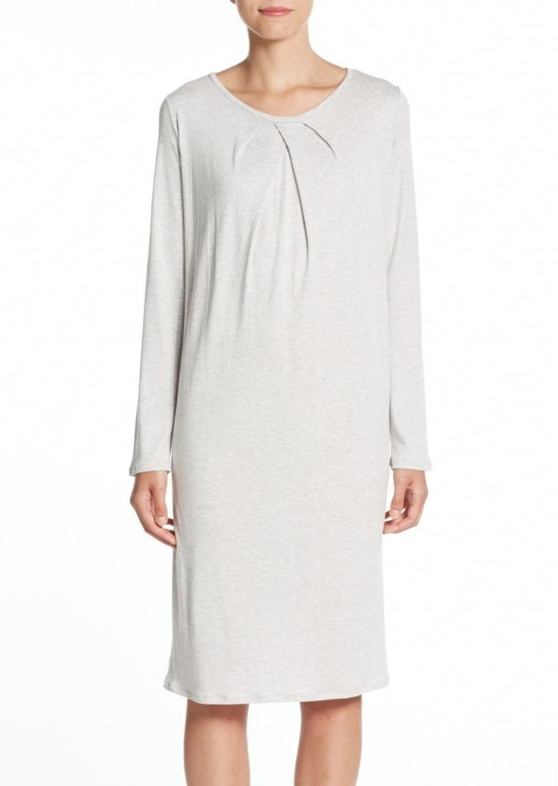 Hanro Heathered Cotton-Jersey Nightgown