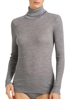 Hanro Karla Seamless Wool & Silk Turtleneck Top