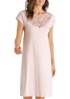 Hanro Lace-Inset Nightgown