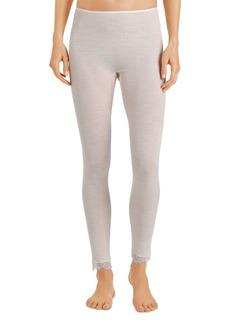 Hanro Lace Trim Ribbed Pants