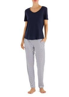 Hanro Laura Short Sleeve Long Pajama Set