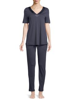 Hanro Lavender Jersey Pajama Set