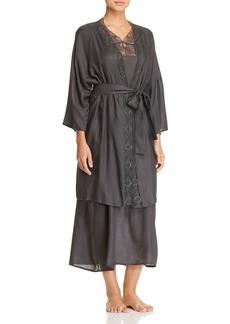 Hanro Liane Woven Viscose Short Kimono Robe