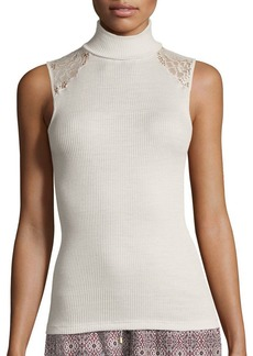 Hanro Lillian Lace-Inset Sleeveless Layering Top
