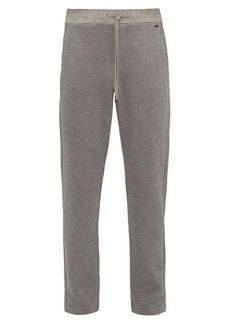 Hanro Logo-plaque cotton-piqué pyjama trousers