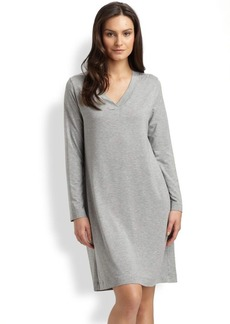 Hanro Champagne Long Sleeve Sleep Dress