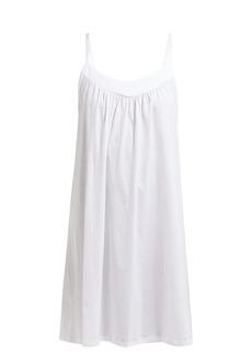 Hanro Lotty gathered-cotton nightdress