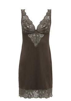 Hanro Lynn lace-trimmed jersey slip dress