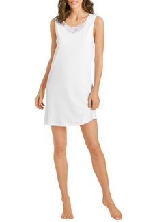 Hanro Madlen Lace Trim Tank Nightgown