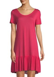 Hanro Malva Ruffled-Hem Jersey Nightgown