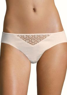 Hanro Melissa Lace-Trim Cotton Bikini Panty