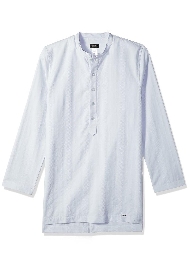 HANRO Men's Basil Woven Long Sleeve Shirt