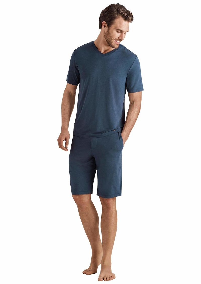 HANRO Men's Casuals Short Sleeve V-Neck Shirt