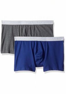 HANRO Men's Cotton Essentials Boxer Brief 2-Pack