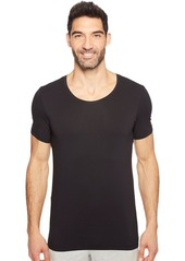 HANRO Men's Cotton Superior Short Sleeve Crew Neck Shirt