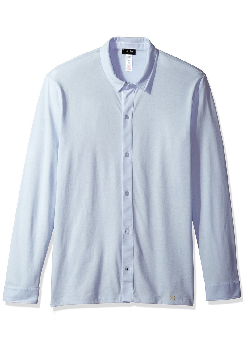 HANRO Men's Harvey Knit Button Front Shirt