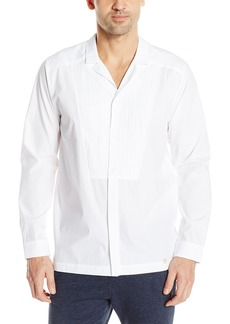 HANRO Men's Harvey Woven Button Front Shirt