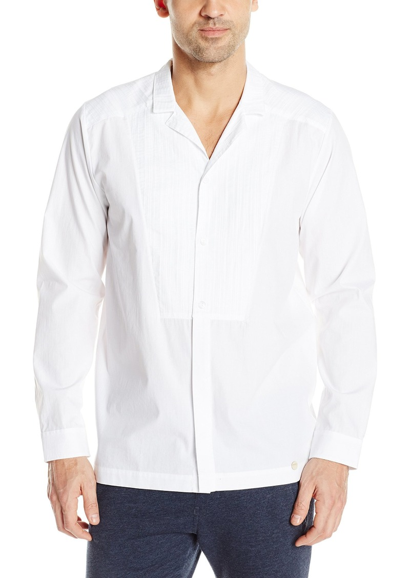 HANRO Men's Harvey Woven Button Front Shirt