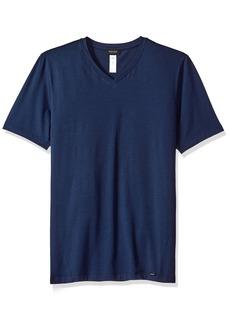 HANRO Men's Liam Short Sleeve V-Neck Shirt