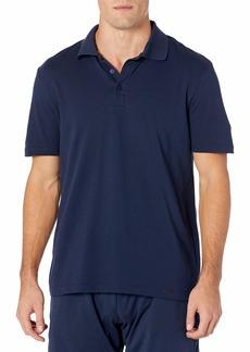 HANRO Men's Living Short Sleeve Polo Shirt